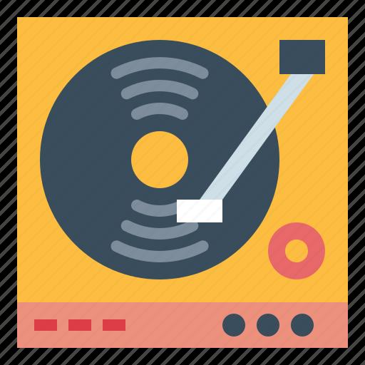 dj, turntable, vinyl icon