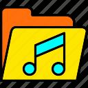 digital, files, folder, music