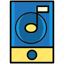 device, learn, multimedia, music, record, relax, sound icon