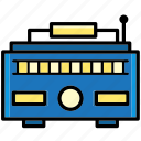 communication, device, instrument, multimedia, music, radio, relax icon