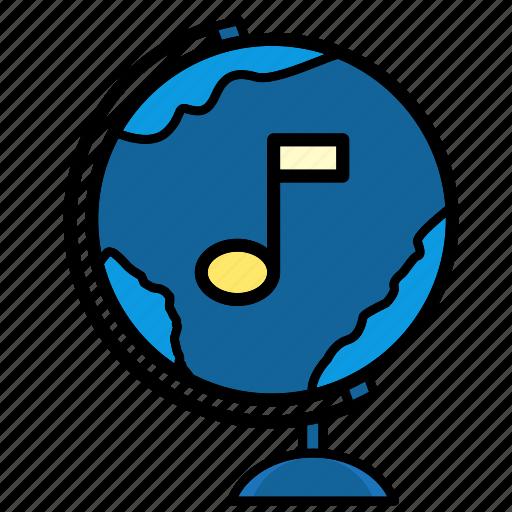 device, international, multimedia, music, relax, world icon
