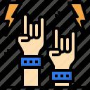 rock, music, hand, gesture, concert