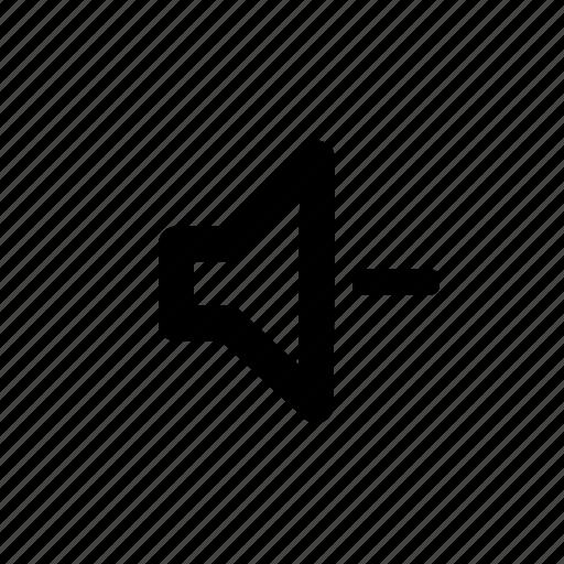 audio, down, music, mute, volume icon
