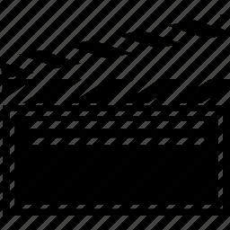 clapperboard, clipper, cut, edit icon