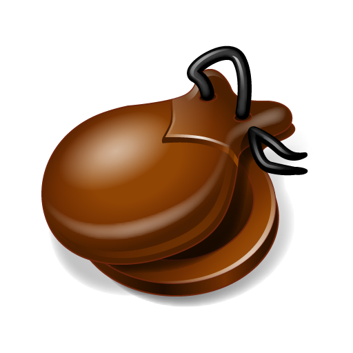 castanets, click clack, instrument, music icon