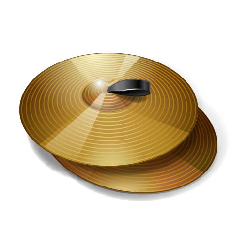 cymbals, instrument, music, slam icon