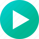 media player, music, navigation, play icon