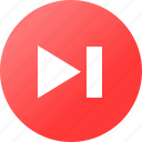 arrow, media player, music, navigation icon