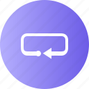 media player, music, navigation, repeat icon