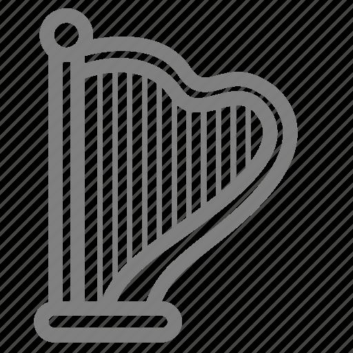 harp, instrument, music, string icon