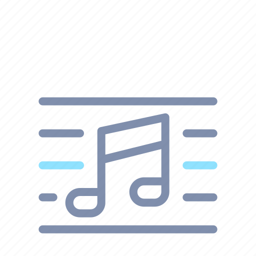 Bar, music, musical, notation, note, sound icon - Download on Iconfinder