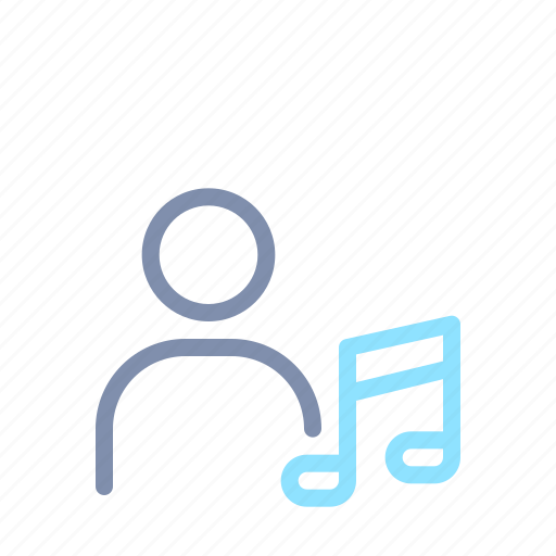 audio, music, musical, note, people, person, singer icon