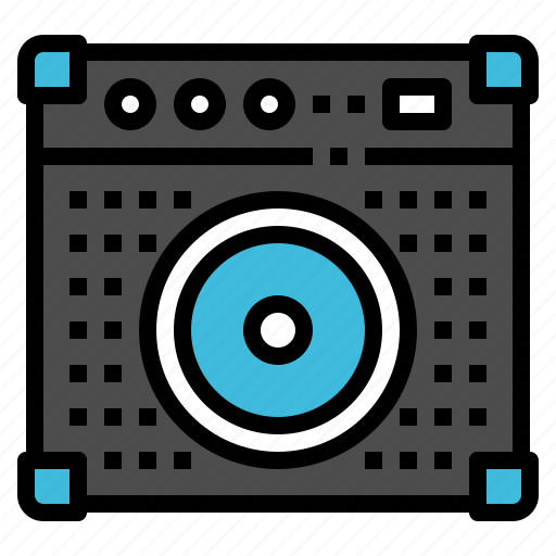 amplifier, instrument, loudspeaker, mixer, music icon