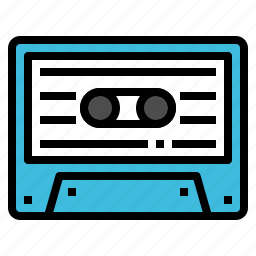 audio, cassette, music, song, tape icon