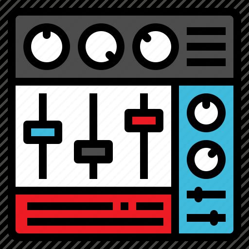 amplifier, control, mixer, music, volume icon