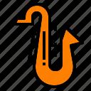 classic, instrument, jazz, music, saxophone icon
