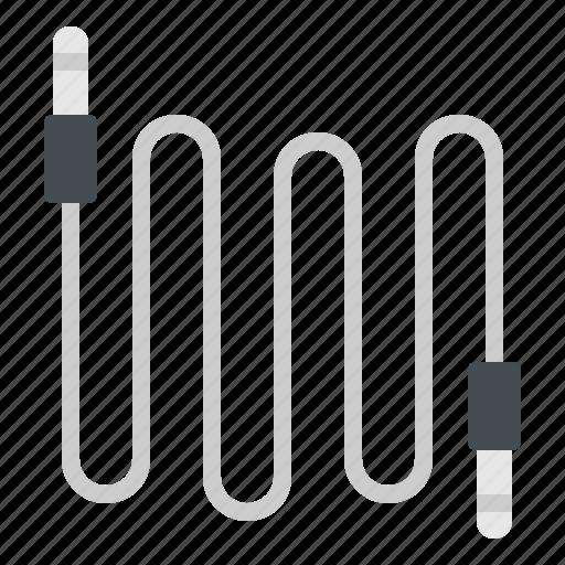 audio, cable, equipment, jack, music icon