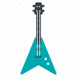 electric, guitar, instrument, music, rock icon