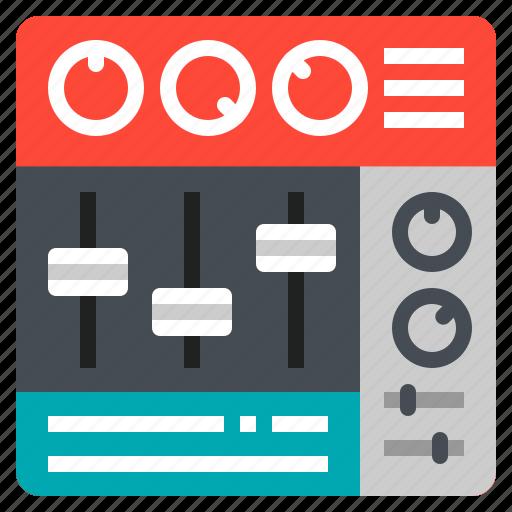 amplifyer, control, mixer, music, volume icon