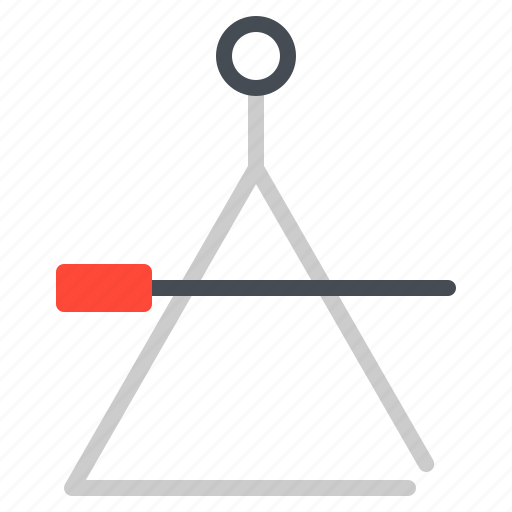 instrument, jazz, music, percussion, triangle icon