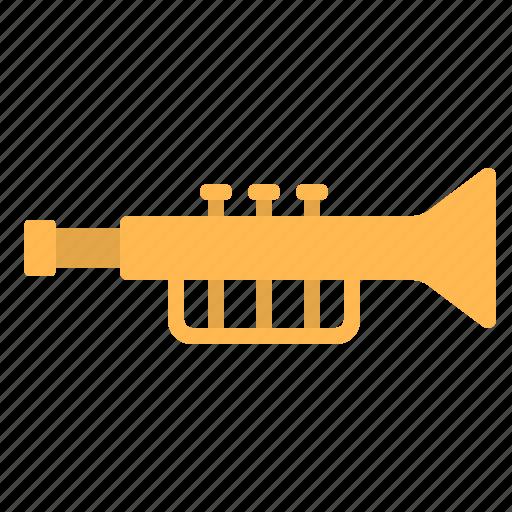 instrument, jazz, music, song, trumpet icon