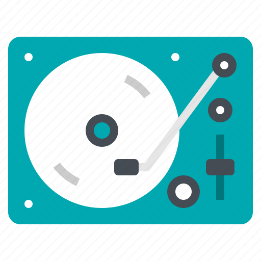 dj, hiphop, instrument, music, turntable icon