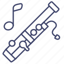 bassoon, instrument, music, wooden icon