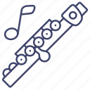 flute, instrument, music, piccolo icon