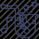jazz, music, sax, saxophone icon