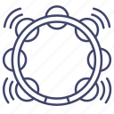 jingle, music, ring, tambourine icon