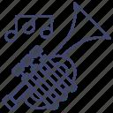 brass, instrument, music, trumpet icon