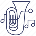 brass, instrument, music, tuba icon