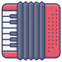 accordion, instrument, music, piano