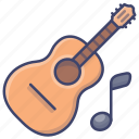 acoustic, guitar, instrument, music