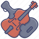 bass, contrabass, double, instrument icon