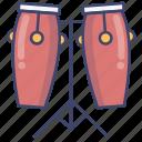 bongo, drum, music, percussion icon