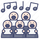 choir, chorus, harmony, singing icon
