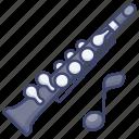 clarinet, instrument, music, oboe icon