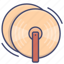 cymbals, instrument, music, percussion icon