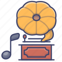 gramophone, music, play, song icon