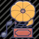 gramophone, music, play, song