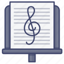 compose, music, orchestra, stand icon