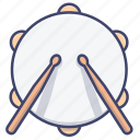 beat, drum, instrument, snare icon