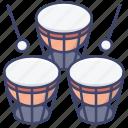 drum, instrument, percussion, timpani icon