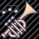brass, instrument, music, trumpet