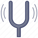 fork, music, pitch, tuning icon