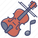 cello, music, viola, violin icon