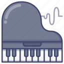 grand, instrument, music, piano icon