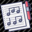 compose, music, paper, staff