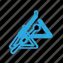 instrument, music, play, triangulum icon